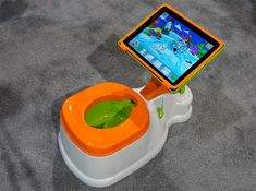 Potty Training's Way Easier When Your Kid's Distracted With an iPad. Talk about spoiled at any early age!