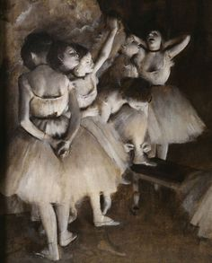 Edgar Degas (1834-1917) Ballet Rehearsal on Stage (Detail), 1874. Oil on canvas, Musée d'Orsay