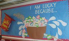 Lucky Charms Bulletin Board Idea (from My Classroom Ideas)