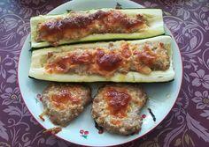 Fitt töltött cukkini Zucchini, Cooking Recipes, Tasty, Sweets, Vegetables, Law, Food, Drinks, Drinking
