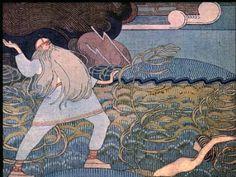 Joseph Alanen. illustration for the Kalevala. Joukahaisen Kosto/ the revenge of Joukahainen.