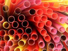 Drinking straws. Free wallpaper