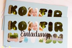 selbstgemachte Einladung zur Konfirmation / Photoshop/Illustrate Grafikdesign