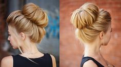 Chic textured bun updo for prom / wedding - YouTube