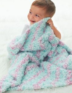 Cotton Candy Crochet Baby Blanket | This corner to corner crochet pattern is fluffy and sweet.