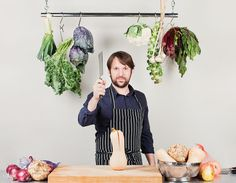 """""""I never, ever eat anything for health reasons. I eat for taste,"""" says Rene Redzepi, celebrated Nordic forager, exalter of pine needles, sea buckthorn, and edible moss."""