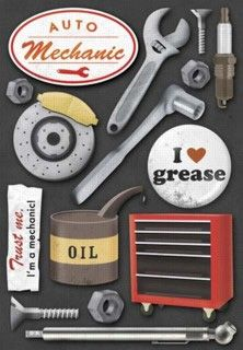 Karen Foster Design - Auto Mechanic Collection - Stickers - Auto Mechanic