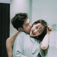 Image about love in Different by Asimenia on We Heart It Relationship Goals Pictures, Cute Relationships, Cute Couples Goals, Couple Goals, Couple With Baby, Couple Sleeping, Korean Wedding, Korean Couple, Ulzzang Couple