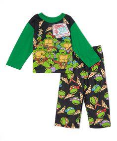 Look at this Black Teenage Mutant Ninja Turtle Pajama Set - Toddler on #zulily today!