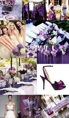 78 best WEDDING: Purple & Brown images on Pinterest | Purple ...