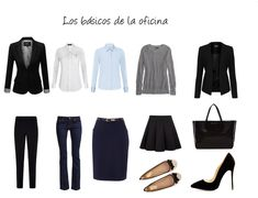 Estos son los básicos para la oficina. Más datos en el Blog de Project Glam Executive Outfit, Executive Woman, Womens Fashion For Work, Work Fashion, Fashion Outfits, Fashion Design, Capsule Wardrobe Work, Office Outfits, Business Fashion