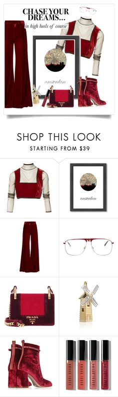 """""""Untitled #177"""" by immyowndoll ❤ liked on Polyvore featuring Jean-Paul Gaultier, Americanflat, Racil, Selima Optique, Prada, Jet Set Candy, RED Valentino, Bobbi Brown Cosmetics and Kendra Scott"""