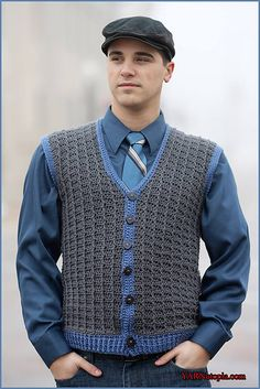 FREE CROCHET PATTERN Sharp Dressed Man Vest pattern by Nadia Fuad
