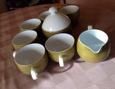Vintage 8pc Mikasa Tea Set Olive Green by Ben by LosChapines, $23.75