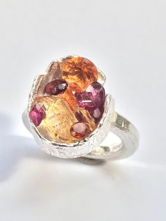Eye Jewelry, Jewelry Art, Types Of Gemstones, London Art, Contemporary Jewellery, Precious Metals, Garnet, Sterling Silver Rings, Jewelry Making