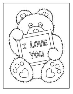 valentine teddy bear coloring pages - 1000 images about valentines day coloring pages on