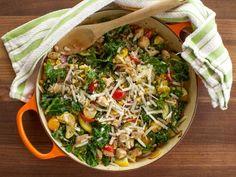 Get Pesto Chicken Skillet Supper Recipe from Food Network