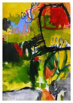 """Saatchi Art Artist Daniela Schweinsberg; Painting, """"Midsummer garden #2 (work no. 2015.21)"""" #art"""