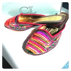 """CL by Laundry Silk Beaded Mule CL by Chinese Laundry                                     Women's Thai Silk Beaded and Embroidered Burgundy """"OLSEN"""" Mule (say that 3 times fast)!                                                                            BNIB, never worn, in perfect condition. A truly lovely modern Cinderella shoe- all you need now is Prince Charming! Chinese Laundry Shoes"""