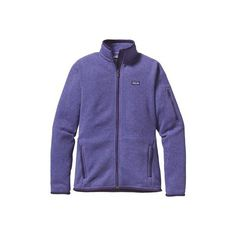 Women's Patagonia Better Sweater Jacket - Violetti Jackets ($90) ❤ liked on Polyvore featuring activewear, activewear jackets, purple, patagonia and patagonia sportswear