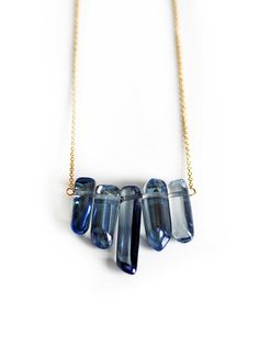 MYSTIC+blue+quartz+row+necklace+por+keijewelry+en+Etsy,+$52.00