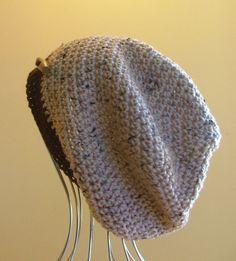 ~~ NEW Mens Womens Unisex Crochet SLOUCHY Beanie HAT Brown Fleck HANDMADE QLD ~~