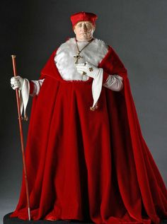 Full length color image of Cardinal Wolsey aka. Lord Chancellor, by George Stuart.