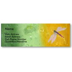 Antique Rainbow/Dragonfly by cnlbell  Create a business card at Zazzle!