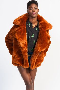 Gypsy Junkies 'Bowie' Faux Fur Coat