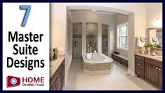 Master Bathroom Design Inspiration - 7 Traditional Master Suite and Master Bathroom Decor & Designs . Master Suite Bathroom, Bathroom Design Inspiration, Bathroom Designs, Corner Bathtub, Guest Room, Decor Ideas, House Design, Interior Design, Bedroom