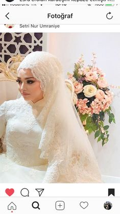 You can find different rumors about the annals of the wedding dress; tesettür First Narration; Muslim Wedding Gown, Muslim Wedding Dresses, Muslim Brides, Wedding Gowns, Muslim Couples, Wedding Cakes, Bridal Hijab Styles, Bridal Veils And Headpieces, Muslimah Wedding