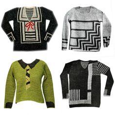 Schiaparelli trompe l'oeil sweaters, 1927.