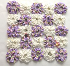 Your place to buy and sell all things handmade Yo Yo Quilt, Quilted Potholders, Crochet Fabric, Project Ideas, Projects, Mini Quilts, Loom Weaving, Pot Holders, Primitive