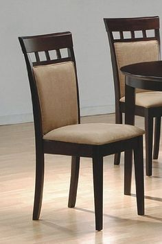 Set of 2 Contemporary Style Cappuccino Finish Dining Chairs - http://www.furniturendecor.com/set-of-2-contemporary-style-cappuccino-finish-dining-chairs/ - Categories:Chairs, Dining Chairs, Dining Room Furniture, Furniture, Home and Kitchen, Kitchen Furniture