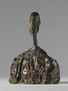 Alberto Giacometti 1901 - 1966 PETIT BUSTE D'HOMME Inscribed A. Giacometti, numbered 2/6 and inscribed with the foundry mark Susse  Fondeur Paris; stamped with the foundry mark Susse Fondeur Paris Cire Perdue (on the interior) Bronze Height: 8 1/8 in. Conceived circa 1950 and cast in 1971.