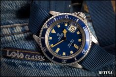 "Vintage Blue Tudor Snowflake (photo credit to ""Retina"" Ernie Romers Ernie Romers Ernie Romers) Unique Watches, Affordable Watches, Beautiful Watches, Cool Watches, Watches For Men, Vintage Rolex, Vintage Watches, Tudor Heritage Black Bay, Tudor Submariner"