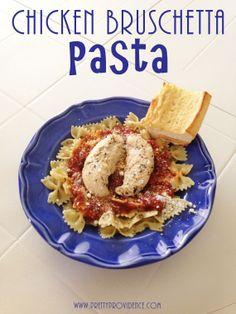 Chicken Bruschetta Pasta by www.prettyprovidence.com