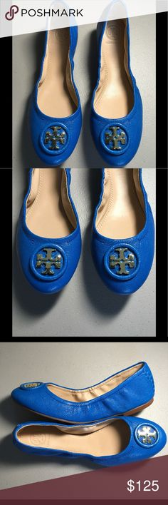 💥New Tory Burch Allie Ballet Flats 💥 A '70s-inspired update of the beloved Tory Burch ballet flat, the Allie is topped with a wrapped logo medallion at the toe. Rows of tonal topstitching at the heel complete the modern classic. Leather upper and lining/rubber sole. By Tory Burch; imported. Salon Shoes. Retail: $250.00.   100% Authentic     NWOB Tory Burch Shoes Flats & Loafers