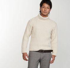 【楽天市場】作品♪210-211-48カシミヤのリブ編みのセーター:【毛糸 ピエロ】 メーカー直販店