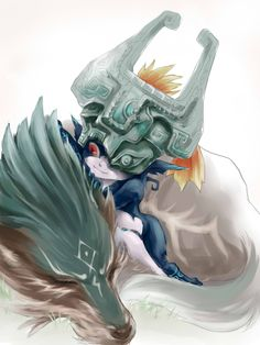 Midna and wolf Link by @crona213