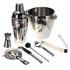 Online Shop Wholesale 8pcs/Set Eight Stainless Steel Cocktail Shaker Bar Drink Bartender Mixer Kit Jigger Hot Free Shipping|Aliexpress Mobile