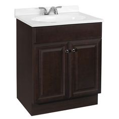 Project Source Richmond 24.5-in x 18.5-in Java Integral Single Sink Bathroom Vanity with Cultured Marble Top (Lowes)
