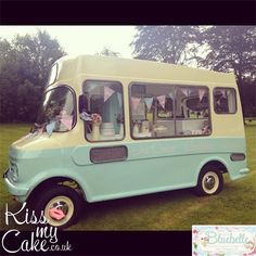 Kiss My Cake - Bluebelle VINTAGE ICE CREAM VAN  Love this van!! This is what I would want!