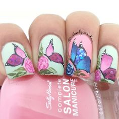 Butterfly Nails by Instagrammer @_lovely_nails_