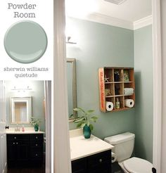 Powder Room: Sherwin Williams Quietude | Pretty Handy Girl