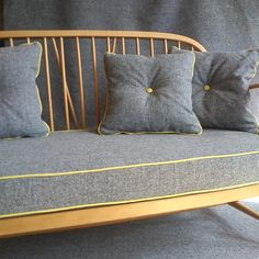 Image of Ercol Two-Seater Blonde- shameless self-promotion Ercol Sofa, Ercol Dining Chairs, Ercol Furniture, Upholstered Swivel Chairs, Home Furniture, Furniture Design, Kitchen Chairs, Settee, Upcycled Furniture