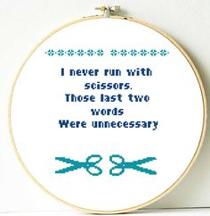 Funny quote cross stitch pattern. Instant PDF by ShopDeLorai