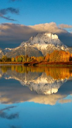 Reflections; mountains; nature