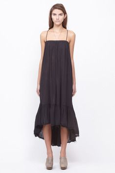Black Crane Long Strap Dress (Solid Charcoal - also comes in royal blue)   #Nonmaternitymaternitywear
