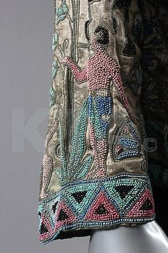 Kerry Taylor Auctions Catalog - detail of beading on 1924 Egyptian motif jacket